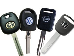 Kľúče od rôznych áut